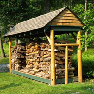 wood shed installation