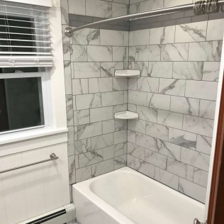 beautiful shower tile installation