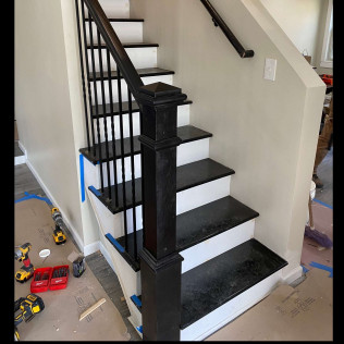 stairwell and railing home remodeling