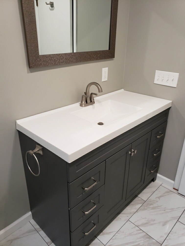 new sink and counter
