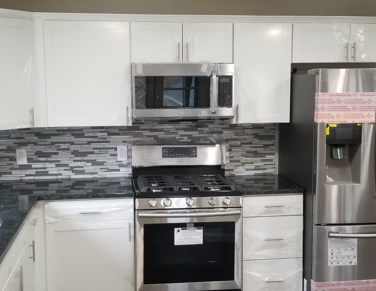 new appliances with a complete kitchen remodel